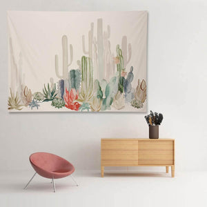 Cotton Cactus Wall Hanging Tapestry Bohemian Dorm Cover Beach Towel Living Room Decor Throw Blanket Picnic Cloth Yoga Mat freeshipping - herfreespirit