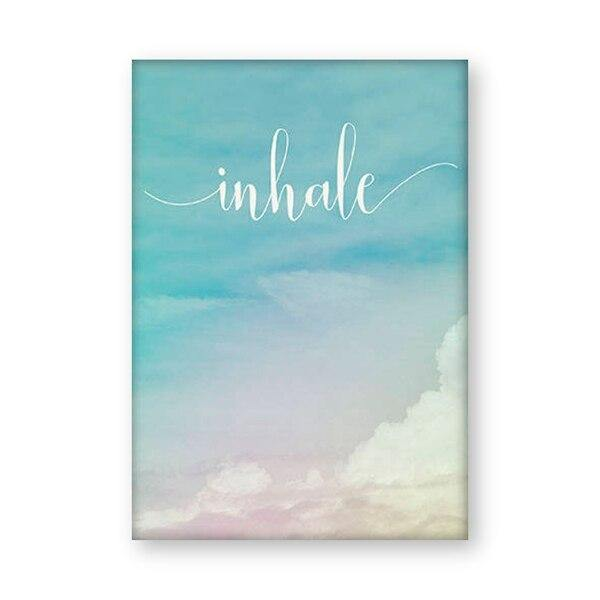Inhale Exhale Motivational Poster Yoga Meditation Prints Boho Home Decor , Zen Art Breathe Canvas Painting Pilates Wall Pictures freeshipping - herfreespirit