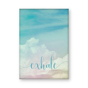 Inhale Exhale Motivational Poster Yoga Meditation Prints Boho Home Decor , Zen Art Breathe Canvas Painting Pilates Wall Pictures