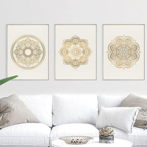 Zen Yoga Mandala Abstract Canvas Poster Boho Wall Art Geometric Print Painting Decorative Pictures Modern Living Room Decoration