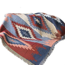 Load image into Gallery viewer, Multi-Function Decor Aztec Navajo Towel Mat Cotton Sofa Bed Chair Blanket Throw Rug Textile Geometry Throw Blanket Sofa Decor freeshipping - herfreespirit