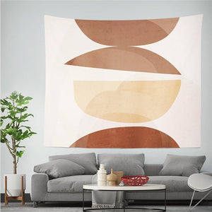 Geometric Tapestry Wall Hanging Boho Decor Psychedelic Wall Cloth Tapestries Soft Shapes Hippie Wall Tapestry Carpet Home Decor