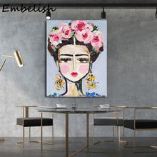 Load image into Gallery viewer, 1 Pieces Impressionist Abstract Woman Portrait Wall Posters For Living Room Modern Home Decor Pictures Bedroom Canvas Paintings