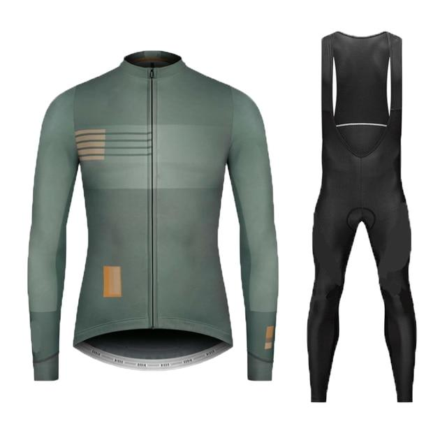 Spring autumn 2020 team NW long sleeve cycling jersey set Ropa Ciclismo breathable racing bike clothing MTB Bike 9D gel pad - Grandad shirt club