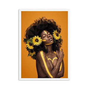 Africa Sexy Queen Black Woman Nordic Poster And Print Wall Art Abstract Canvas Painting Print Wall Pictures For Living Room Club