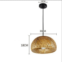 Load image into Gallery viewer, Chinese Hand Knitted Bamboo Art Pendant Lights Restaurant Caf Loft Hanging Pendant Lamp Home Decor Bamboo Led Light Fixtures