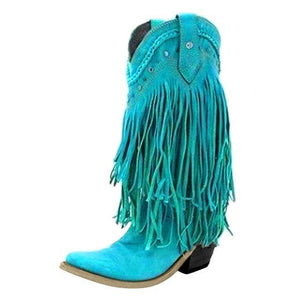 Boho Women Low Heel Bohemia Style Gladiator Motorcycle Boots Fringed Cowboy Boots Shoes Spring Autumn Women Tassel Boots 2020 freeshipping - herfreespirit