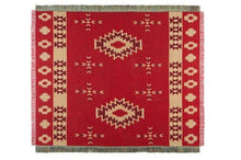 Load image into Gallery viewer, Bohemian Style Geometry Ethnic Decorative Blanket Red Sofa Throw Blanket Leisure Knitted Floor Cloth Carpet Wall Tapestry Decor