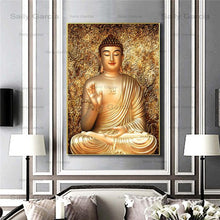Load image into Gallery viewer, Buddha Statue Canvas Painting Religious Zen Yoga Wall Art Picture For Living Room Bedroom Decoration Posters And Prints No Frame