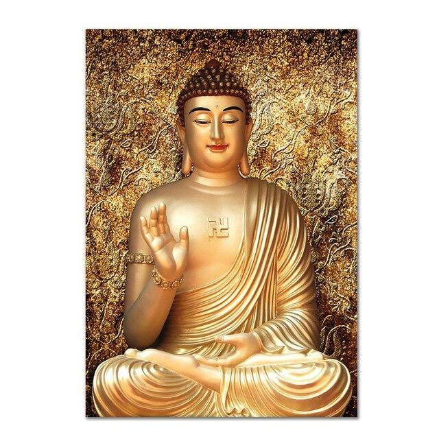 Buddha Statue Canvas Painting Religious Zen Yoga Wall Art Picture For Living Room Bedroom Decoration Posters And Prints No Frame
