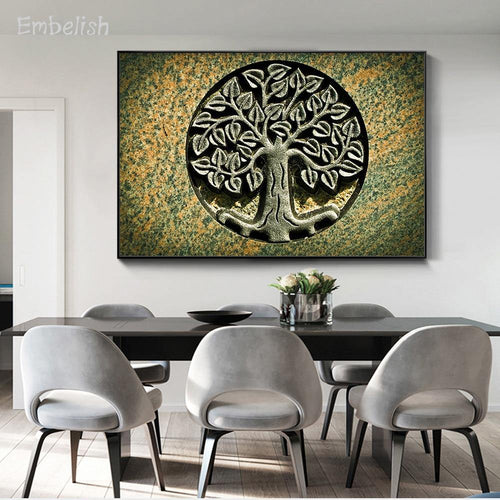 1 Pieces Abstract Tree Modern Home Decor Pictures For Living Room Wall Art Posters HD Print Canvas Oil Painting Bedroom Artworks freeshipping - herfreespirit