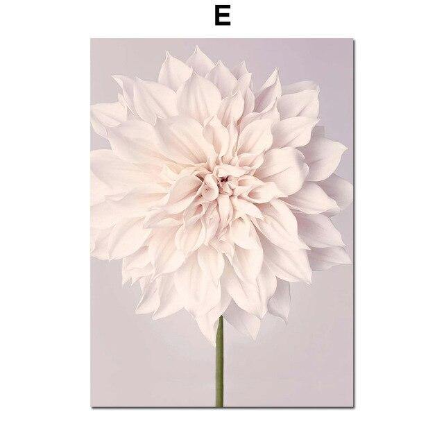 Sunlight Girl Dahlia Rose Quotes Landscape Wall Art Canvas Painting Nordic Posters And Print Wall Pictures For Living Room Decor