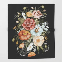 Load image into Gallery viewer, Flowers on a Winter Night Blanket 3D Flannel Blanket for Bed Fleece Throw Funny Plush Bedspreads freeshipping - herfreespirit