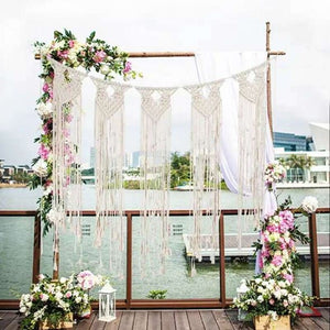 INS Macrame Wall Hanging Tapestry Wedding Decoration Home Living Room Mural Bedside Background Bohemian Style Woven Tapestry