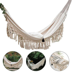 Hammock Boho Double Deluxe Hammock Swing Net Chair 2 Person Indoor Hanging Chair Hammock Swings Fast Delivery freeshipping - herfreespirit