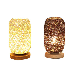 Table Lamp LED USB Solid Wooden Night Light Decoration For Bedroom Lighting Lights
