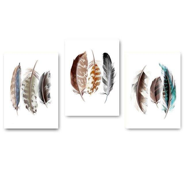 Watercolor Feathers Abstract Poster Canvas Prints Minimalist Wall Art Painting Decorative Picture for Living Room Nordic Style freeshipping - herfreespirit