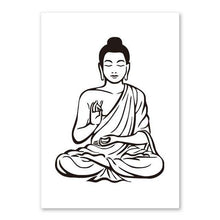 Load image into Gallery viewer, Lotus Flower Yoga Buddha Art Canvas Painting Wall Art Buddha Poster Print Pictures For Living Room Home Decoration No Frame freeshipping - herfreespirit