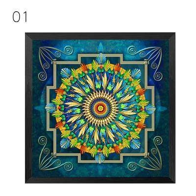 Mandala Ornament Thangka Yoga Canvas Painting Vintage Print Poster Art Canvas Painting Wall Pictures Living Room Decor No Frame freeshipping - herfreespirit