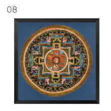 Load image into Gallery viewer, Mandala Ornament Thangka Yoga Canvas Painting Vintage Print Poster Art Canvas Painting Wall Pictures Living Room Decor No Frame freeshipping - herfreespirit