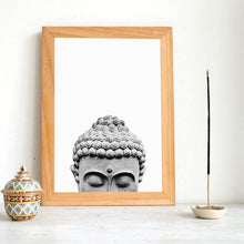 Load image into Gallery viewer, Buddha Statue Boho Wall Art Print And Poster Black White Yoga Gift Art Canvas Painting Buddha Wall Picture for Living Room Decor freeshipping - herfreespirit