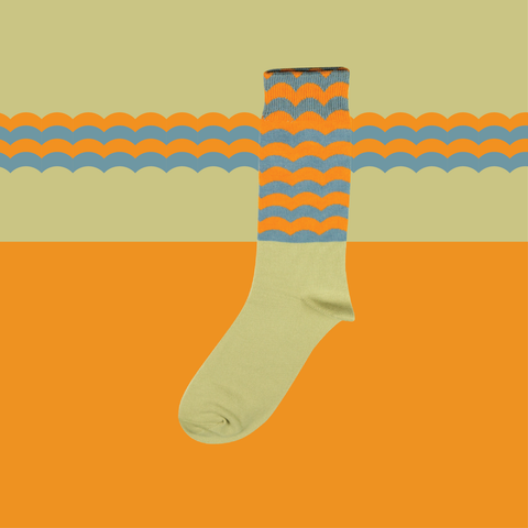 Strip and Stripes - Orange/Blue