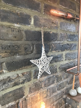 Load image into Gallery viewer, Hanging Willow Star 21cm