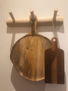 Wooden 3 Peg Hook, Coat Rack,