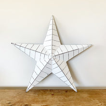 Load image into Gallery viewer, Large White Metal Ridged Barn Star 52cm