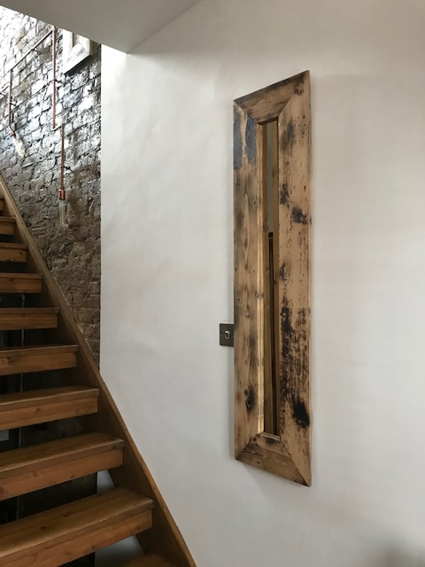 Reclaimed Antique Pine Rustic Handmade Quirky Mirror