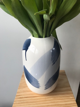 Load image into Gallery viewer, DOLOMITE WHITE & BLUE VASE, 25CM