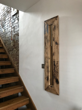 Load image into Gallery viewer, Reclaimed Antique Pine Rustic Handmade Quirky Mirror