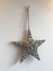 Hanging Willow Star 21cm