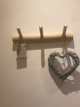 Load image into Gallery viewer, Wooden 3 Peg Hook, Coat Rack,