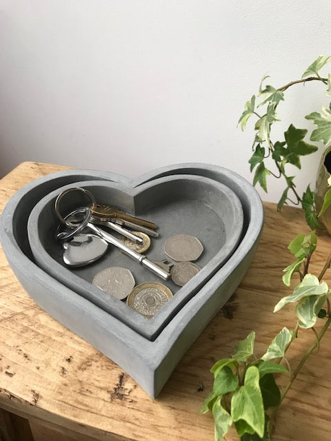 Heart Cement Tray - 2 sizes