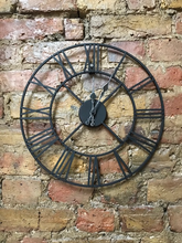 Load image into Gallery viewer, Roman Numeral Clock 40cm Open Face