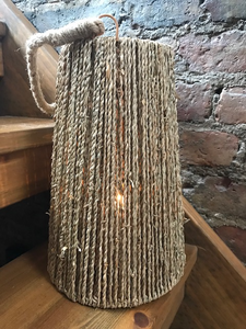 Seagrass lantern 32cm with glass insert