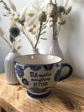 Load image into Gallery viewer, BLUE WILLOW FLORAL MUG