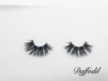 Glamour Volume Round Shape Fluffy Natural Mink Eyelashes-Daffodil