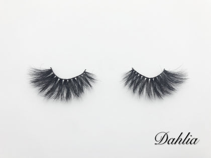 Glamour Volume Round Shape Fluffy Natural Mink Eyelashes-Dahlia