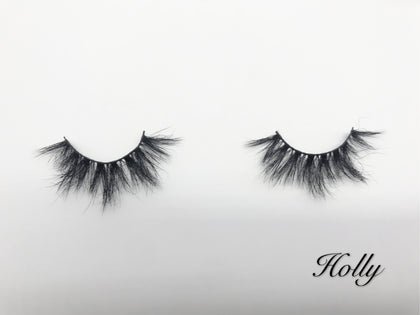Glamour Volume Round Shape Fluffy Natural Mink Eyelashes-Holly