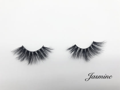 Glamour Volume Round Shape Fluffy Natural Mink Eyelashes-Jasmine