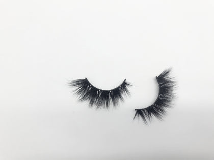 Glamour Volume Round Shape Fluffy Natural Mink Eyelashes-