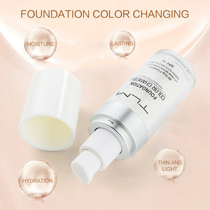 Color Changing Foundation Makeup Base Liquid Cover Concealer