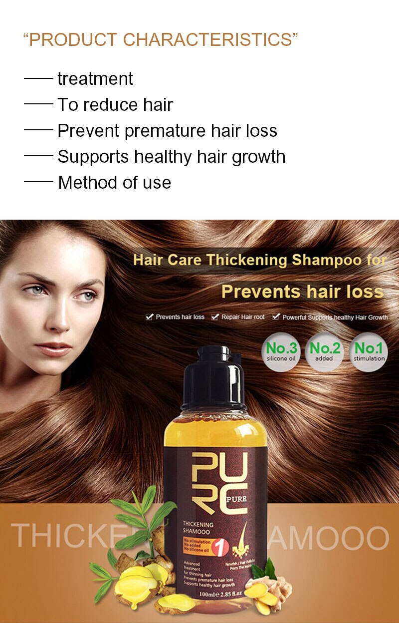 Anti-Loss hair Thickening Shampoo Hair Growth Essence Oil Treatment