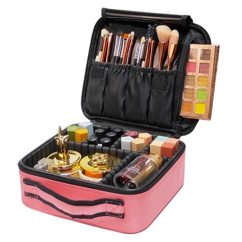 Women Professional Cosmetic Case Beauty Brush Makeup Bag Travel Necessary Waterproof Cosmetic Bag
