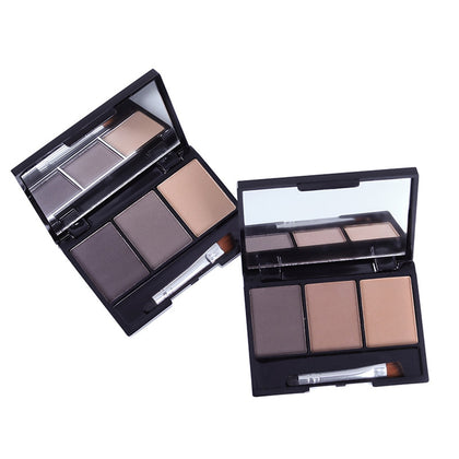 3 Colors Eyebrow Makeup Powder Enhancers Waterproof Long Lasting Eye brow Cream With Make Up brush Tool