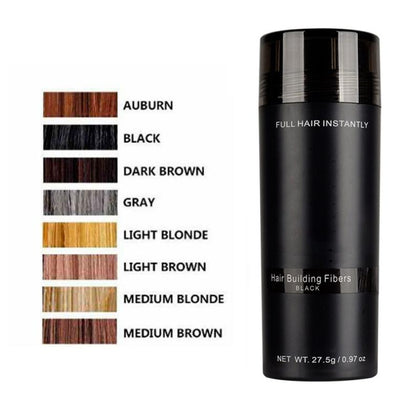 Authentic  Keratin Hair Loss Building Fibers+Applicator Spray Hairline Optimizer Dense organic Hair Growth