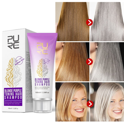 Revitalizing Shampoo Repair While Washing Hair Remove Yellow Fade Shampoo Oftens Hair Strands Adds Shine To Natural Blond Hair