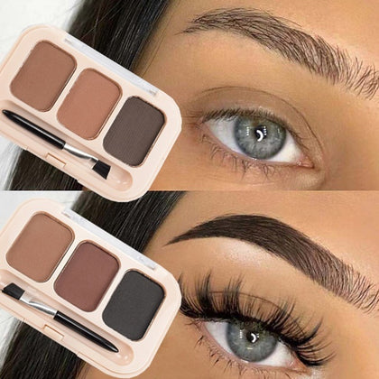 Eyebrow Enhancer Powder 3 Color Palette Long-lasting Eye Brow Women Makeup